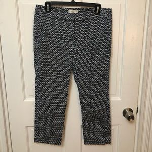 Patterned navy and blue work pants. Size 10